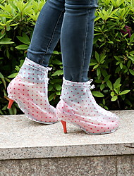 cheap -Women's Boots Stiletto Heel Round Toe PVC Booties / Ankle Boots Spring & Summer Pink