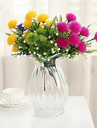 Недорогие -2 шт. Моделирование чувствовать мяч хризантема маленький букет ресторан перегородка цветочная композиция украшения дома украшения садовых растений
