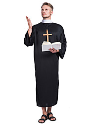 cheap -Wizard Outfits Party Costume Adults' Men's Halloween Halloween Festival / Holiday Polyster Black Men's Carnival Costumes / Leotard / Onesie