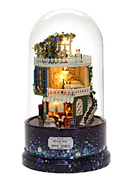 cheap -Dollhouse Dollhouse Accessory Transparent Body City View DIY Landscape Family Plastic Shell Cartoon 1 pcs Kids All Toy Gift