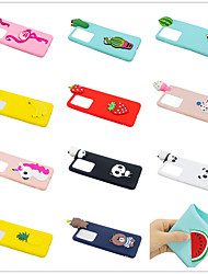 cheap -Phone Case For Samsung Galaxy Back Cover S20 Plus S20 Ultra S20 S9 S9 Plus S8 Plus S8 S7 edge S7 S6 edge Frosted DIY Cartoon Solid Color 3D Cartoon TPU