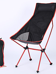 cheap -Camping Chair High Back with Headrest Breathable Ultra Light (UL) Foldable Comfortable Mesh 7075 Aluminium Alloy for Camping / Hiking Fishing Beach Outdoor Autumn / Fall Spring Orange Blue Red Dark