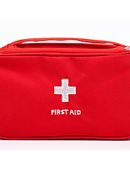 cheap -Oxford Cloth Pattern / Print / Zipper Emergency Survival Bag Outdoor White / Red