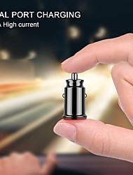 Недорогие -3.1a мини usb автомобильное зарядное устройство с цифровым светодиодным дисплеем универсальный двойной usb телефон автомобильное зарядное устройство для samsung iphone 7 plus 6 5s