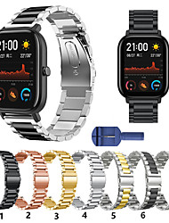 cheap -For Amazfit Bip / Bip Lite / GTS / GTR 42MM  Metal Smart Watch Band Strap Stainless Steel