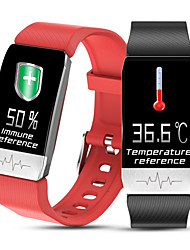 cheap -T1 Unisex Thermometer Smart Wristbands Android iOS Bluetooth Touch Screen Heart Rate Monitor Blood Pressure Measurement Calories Burned Thermometer ECG+PPG Pedometer Activity Tracker Sleep Tracker
