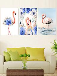 Недорогие -5 штук печать декоративной живописи масляной живописи дома декоративные настенные росписи на холсте, печать 40x60 см x 3 животных природы