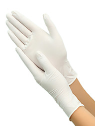 cheap -100pcs Disposable Latex Gloves White Non-Slip Rubber Latex Gloves Household Cleaning Products