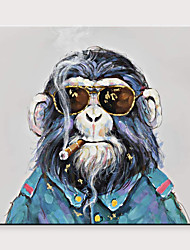 cheap -Abstract Animals Pop Cool Chimp Art Fabric Canvas Pure Hand Painted Oil Painting for Living Room Decor