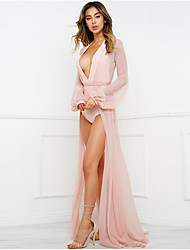cheap -Women's Blushing Pink Black Beige Cover-Up Swimwear Swimsuit - Solid Colored M L Blushing Pink