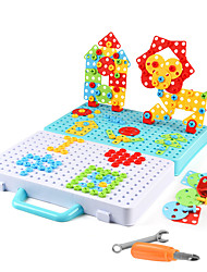 cheap -Building Blocks Educational Toy Construction Set Toys Screw Toy Drill Set 316 pcs Family Bolster compatible Plastic Shell Legoing Electronic DIY Hand-made Boys and Girls Toy Gift / Kid's