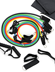 cheap -Resistance Band Set 11 pcs 5 Stackable Exercise Bands Door Anchor Legs Ankle Straps Sports TPE Pilates Exercise & Fitness Gym Workout Adjustable Durable Resistance Training Relieves ACL, LCL, MCL