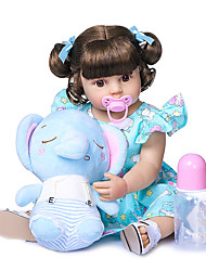 cheap -22 inch Reborn Toddler Doll Baby Girl Newborn lifelike Lovely Parent-Child Interaction Hand Applied Eyelashes Full Body Silicone with Clothes and Accessories for Girls' Birthday and Festival Gifts