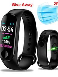 Недорогие -бесплатная 2шт маска м3 умный браслет BT фитнес-трекер поддержка уведомлять / монитор сердечного ритма мониторинг артериального давления кислорода водонепроницаемый спорт Bluetooth совместимые часы