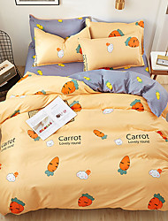 cheap -2020 summer bedding set yellow duvet cover bed set geometric flat sheet reindeer bedclothes 4pcs bed linenset Nordic home textile