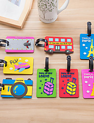 cheap -Mr and Mrs Luggage Tag Personalized Custom Made Unique Luggage Accessory Durable Convenient Leather Silica Gel 2pcs Wine Purple Black / Green Monogram Travel Accessory
