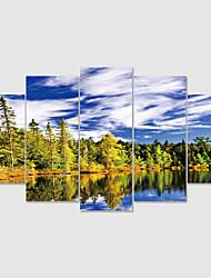 cheap -Print Rolled Canvas Prints Modern Landscape set of 5 pcs without Frame Art Prints