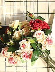 cheap -1pcs Rose Flower Artificial Flower Wedding Decoration Plant Wall INS Wind