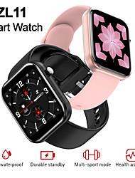 Недорогие -Zl11 умные часы спортивные наручные часы водонепроницаемый полный сенсорный экран браслет фитнес-трекер модные часы