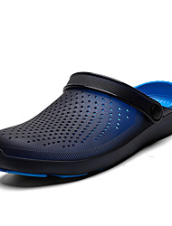 cheap -Men's Rubber Summer Sporty Slippers & Flip-Flops Water Shoes Breathable Black / Red / Black / Black / Blue