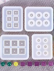 Недорогие -Кристалл погружения бусины 3d силиконовые формы с отверстием поделки украшения ручной работы