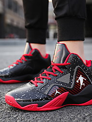cheap -Men's Leather / Mesh Spring & Summer / Fall & Winter Sporty / Classic Athletic Shoes Basketball Shoes / Walking Shoes Breathable Black / Light Red / Blue