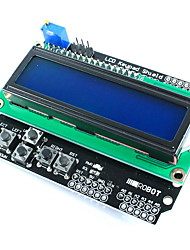 cheap -1602 LCD Board Keypad Shield Blue Backlight For Arduino LCD Duemilanove Robot