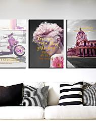 Недорогие -3 шт. Печать декоративной живописи масляной живописи дома декоративные настенные росписи на холсте 40 х 60 см х 3