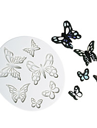 cheap -different shape butterfly pattern chocolate mold fondant cake silicone mold home baking tools