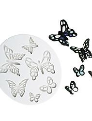 Недорогие -Различная форма бабочка шаблон шоколад плесень помадка торт силиконовые формы инструменты для домашней выпечки