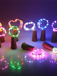 cheap -10pcs Led Silver Wire String Light 2m 20LEDs Wine Bottle Cork Stopper Garland Festival Wedding Party Home Decor Lamp Included Baterry