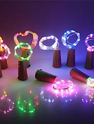 Недорогие -Светодиодный серебряный провод свет шнура 2 м 20 светодиодов бутылка вина пробка гирлянда фестиваль свадьбы ну вечеринку домашнего декора лампы включены батарея