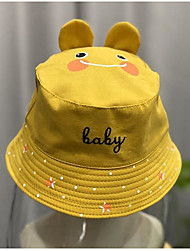 cheap -1pcs Toddler Unisex Cartoon Hats & Caps Yellow / Blushing Pink / Green One-Size