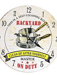 Недорогие -Кухня безрамное мдф настенные часы ресторан настенные украшения кулон