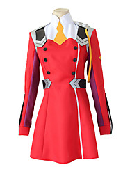 cheap -Inspired by Darling in the Franxx 02 Zero Two Anime Cosplay Costumes Japanese Cosplay Suits Dress Wig For Women's
