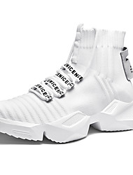 cheap -Men's Tissage Volant Fall / Spring & Summer Trainers / Athletic Shoes Running Shoes / Walking Shoes Breathable White / Black