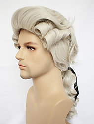 cheap -Cosplay Judge Cosplay Wigs Men's Women's Asymmetrical 21 inch Heat Resistant Fiber Curly Black Blonde White Blonde White Black Anime