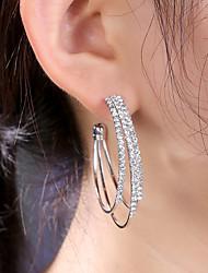 cheap -Women's Drop Earrings Hoop Earrings Chandelier Statement Stylish Gold Plated Rose Gold Plated Earrings Jewelry Rose Gold / Gold / Silver For Party Evening Gift Date Festival 1 Pair