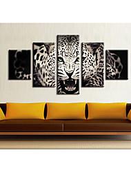Недорогие -5 штук печать декоративной живописи масляной живописи дома декоративные настенные росписи на холсте, печать животных абстрактный пейзаж