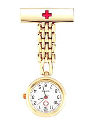 Недорогие -Жен. Часы-брелок На каждый день Мода Серебристый металл Золотистый сплав Китайский Кварцевый Черный Розовое Золото Белый Защита от влаги Секундомер С тремя часовыми поясами 30 m 1 комплект / Один год