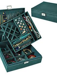 cheap -Square Jewelry Box - Leather Black, White, Red 26 cm 26 cm 8.5 cm / Women's