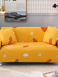 cheap -Cartoon Carrot Print Dustproof All-powerful Slipcovers Stretch Sofa Cover Super Soft Fabric Couch Cover with One Free Pillow Case