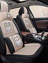 cheap -Car seat cover cartoon Non-slip fabric all surround linen seat set Car cushion cute ice silk Four Seasons five seats