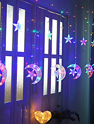 cheap -Stars With Moon Curtain Lights LED String Lights Ins Christmas Lights Bedroom Decoration Holiday Lights Wedding Neon Lights