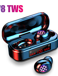 cheap -V8 TWS Bluetooth 5.0 earphones wireless headphones 8D Stereo Sport Headset Fingerprint Touch LED Digital Display HD Call earbuds