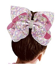 cheap -Kids / Toddler / Infant Girls' Active / Sweet Butterfly Polka Dot / Geometric Bow Nylon Hair Accessories Wine / White / Purple One-Size