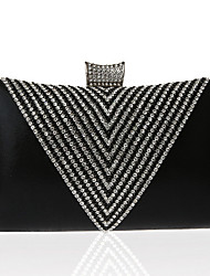 cheap -Women's Bags Polyester Alloy Evening Bag Glitter Crystals Geometric Pattern Wedding Bags Wedding Party Event / Party Black Gold Silver