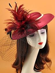 cheap -Net Fascinators with Feather 1 Piece Tea Party / Horse Race Headpiece