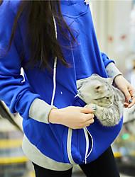 cheap -Big Kangaroo Pouch Hoodie Women Pet Pocket Hoodie Sweatshirt Dog Cat Carry Pocket Hooded Pullover Sportswear