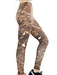cheap -Women's High Waist Leggings Running Tights Compression Pants Patchwork Elastane Sports Leggings Bottoms Running Fitness Jogging Training Moisture Wicking Butt Lift Tummy Control Solid Colored Buff